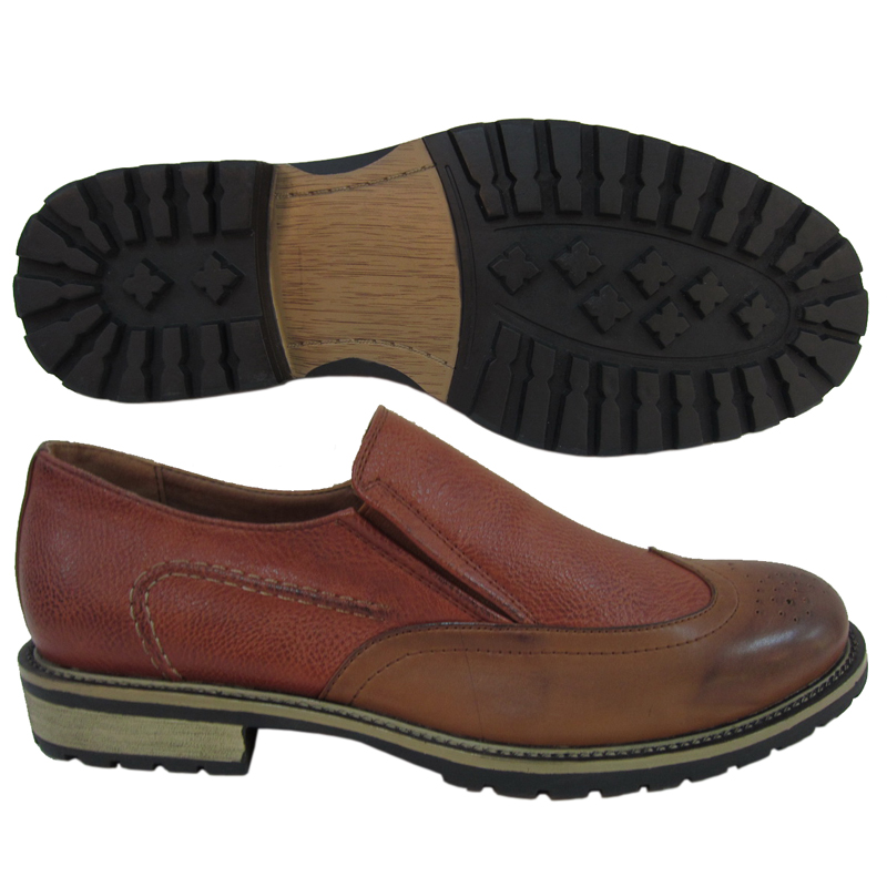 MEN SHOES STYLE NO.2197F-1-22K LT BROWN