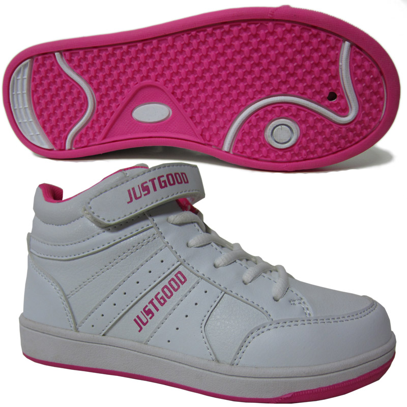 SNEAKER SCHOOL SHOES STYLE NO.6211 OUTSOLE WHITE-FUSCHIA.